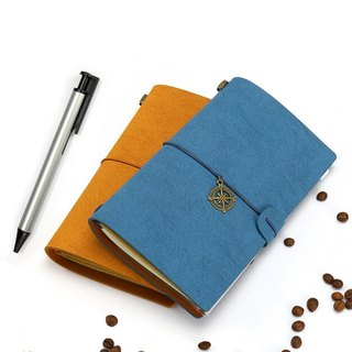 Custom engraved diary notebook wallet book European travel notebook retro handbook notebook leather book birthday gift graduation gift