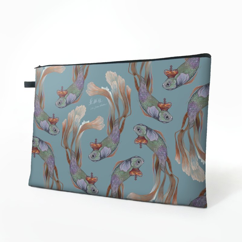 Crown Fish Fish | File Bag, Clutch, Zipper Document Holder, File Bag