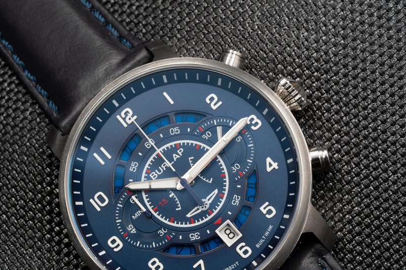 BURLAP Chronograph First in BLUE