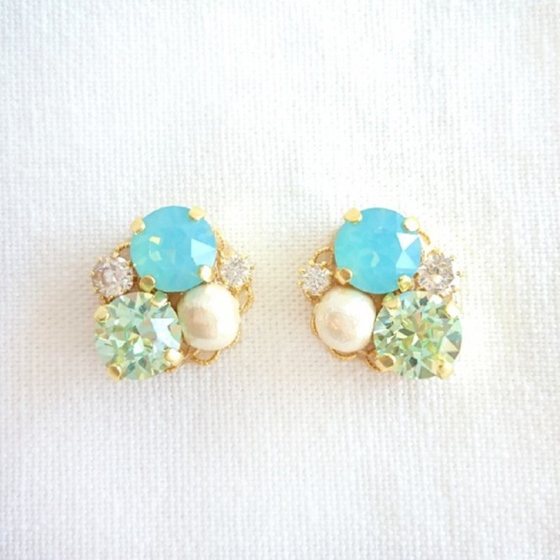 Green Bijou earrings