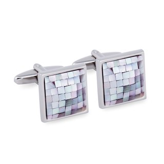 Rainbow Tiles Embed Cufflinks