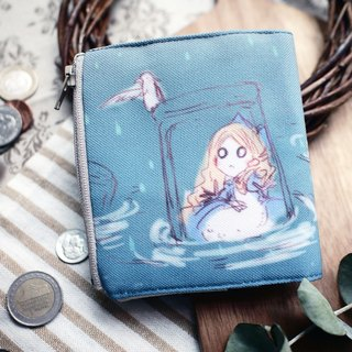ZoeL*short clip wallet*tears pool Alice * Alice original illustrations
