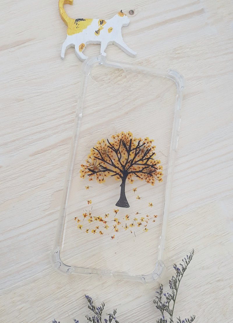 Pressed Flower Phonecase-Big Tree(Autumn Yellow)