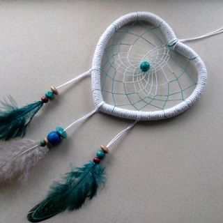 Dream Catcher // Decoration // Big Heart // Blue