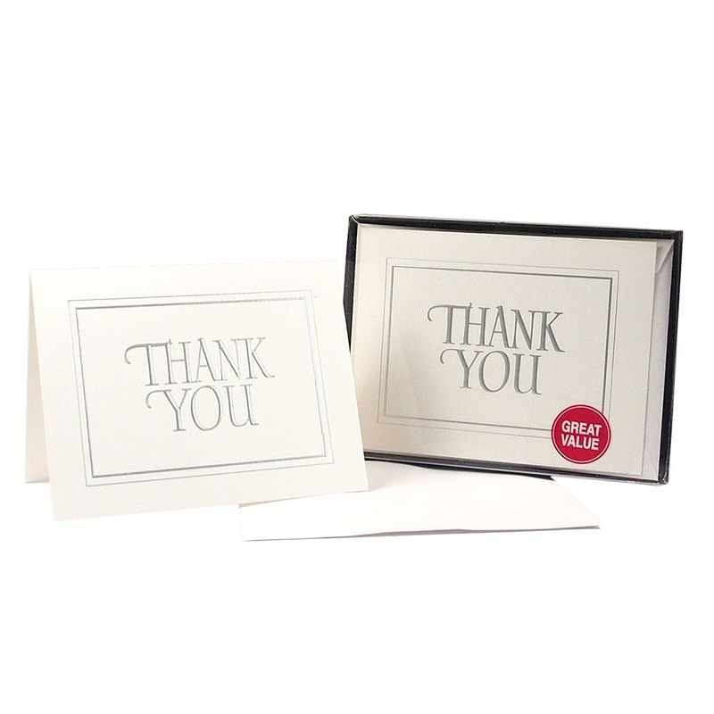 Box Card-Thank You-Silver 20 Into [Hallmark-Unlimited Thanks Card / Multipurpose]
