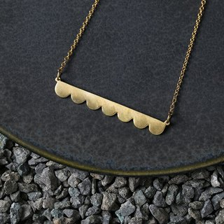 Misstache N.7 Miss Beard #7 Brass Necklace