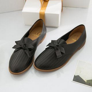 Molly-black-handmade leather casual shoes