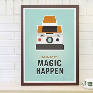 Nordic retro minimalist poster Make Magic Happen original customizable paintings without frame
