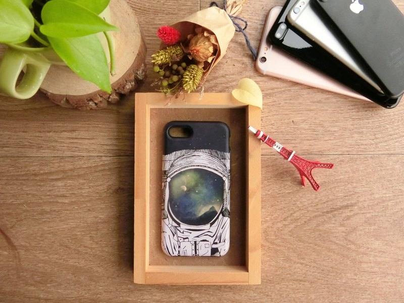 """Eyes of the reflection / Astronaut"" / exclusive high-grade double anti-scratch DROP BUMPER CASE [APPLE iPhone full range / Samsung NOTE.S Series / LG G Series]"