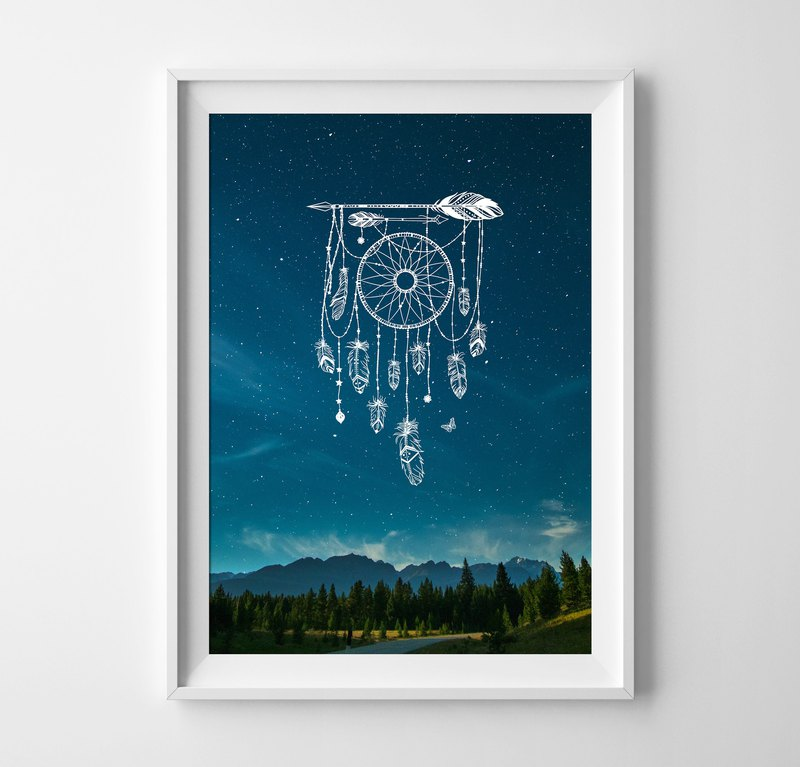 Dreamcatcher print customizable posters