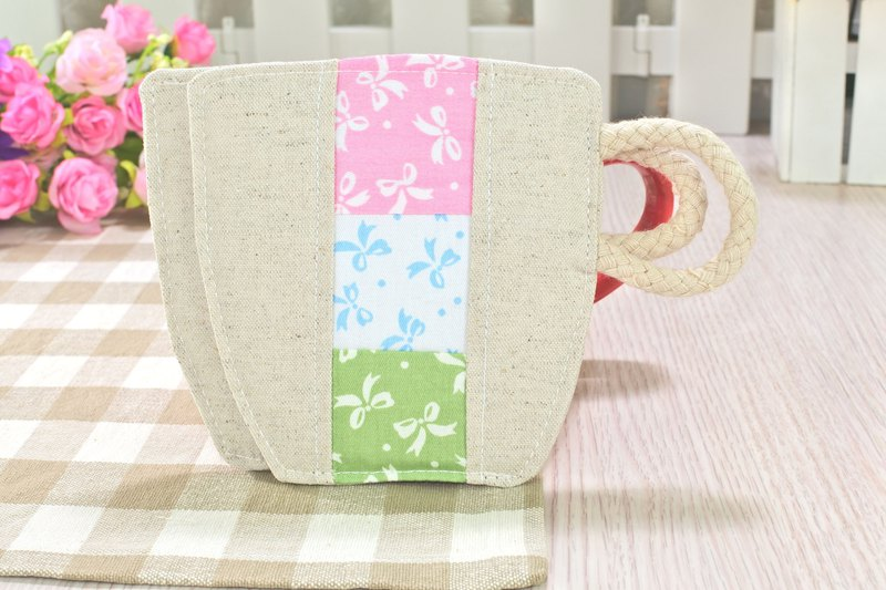 The cup's coaster modeling cloth coaster can be customized (1 in)