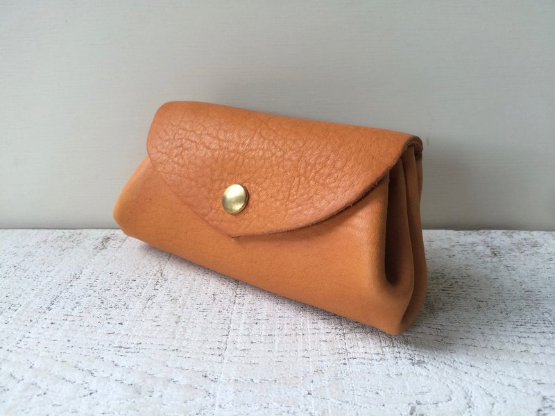 Korokoro purse Japan leather fave camel M size