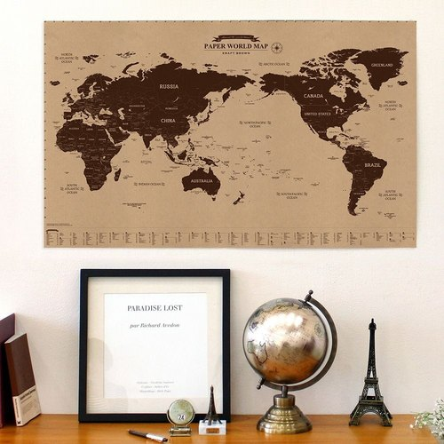 indigo-indimap Around the World - World Map Poster (revision - Single) -05 primary color version (limited home delivery), IDG70374