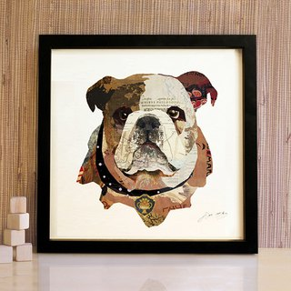 Bulldog puppy head paintings