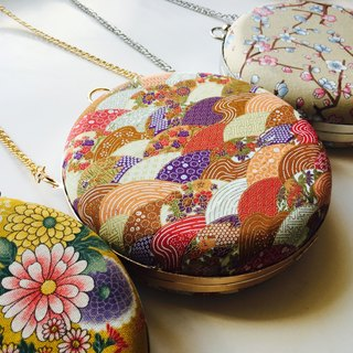 Bagel Bag - Japanese Orange x Red Kimono