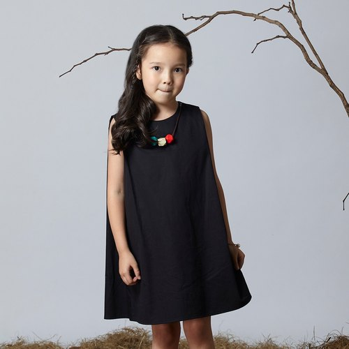 Ángeles- classic A-line inlaid wooden beads vest dress (7-10 years old)