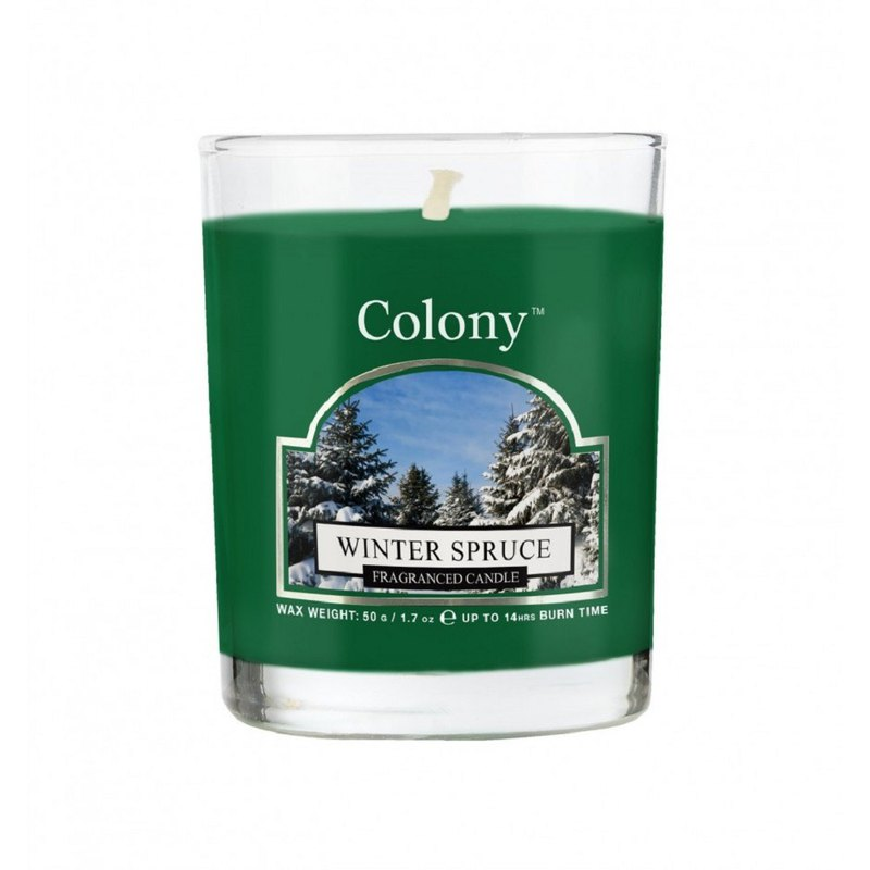 British fragrance Colony Series snow white forest small jar glass candle