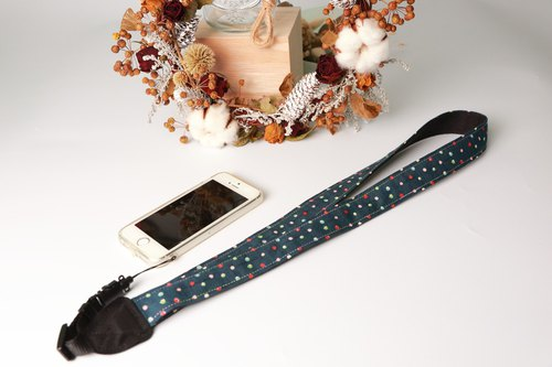 Pu.sozo Japanese hand-made (Choi dots) phone neck back rope / Polaroid back rope / cell phone rope / Polaroid / single hole / camera rope