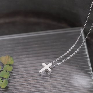 Minimalist Cross necklace silver 925