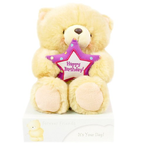 8 inch / birthday star velvet bear [Hallmark-ForeverFriends velvet - birthday series]