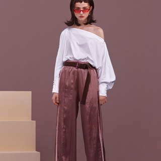 ENVOL AVEC NING lazy silk sweatpants - bare