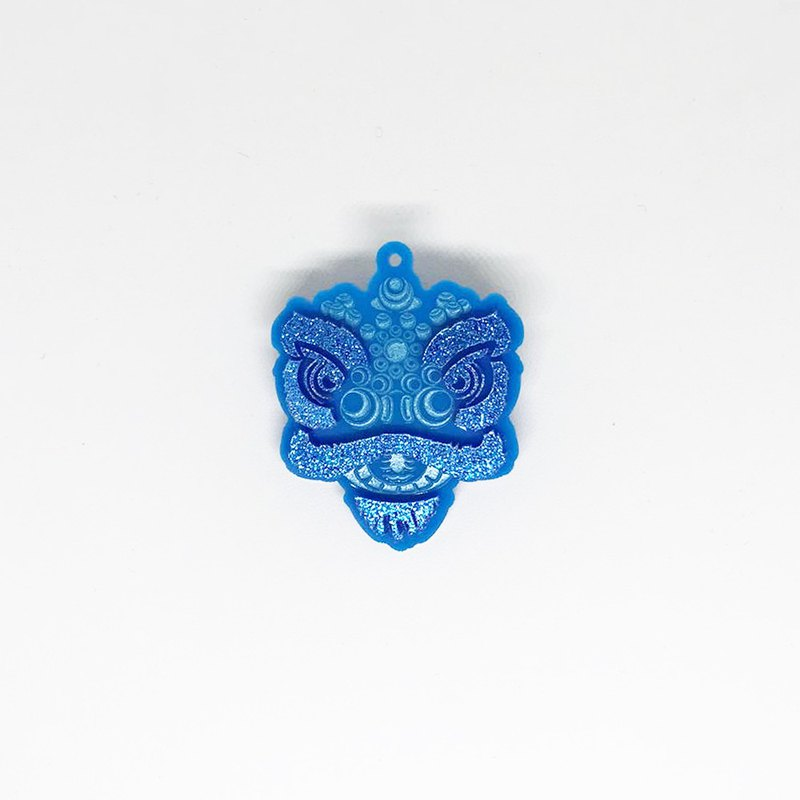 Lions House Blue Lion Head Brooch