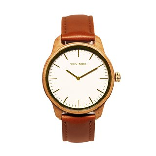 WILS FABRIK - Karmuel - Maple Wood Watch with Leather Strap