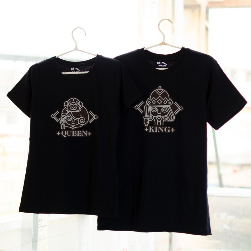 [Chinese Valentine's Day Gift] [King Queen] Couples / Short Sleeve T-shirt