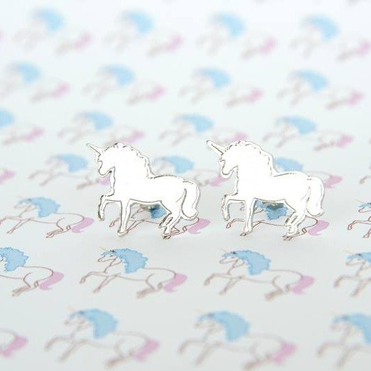 Unicorn stud earrings, Little Unicorn earrings