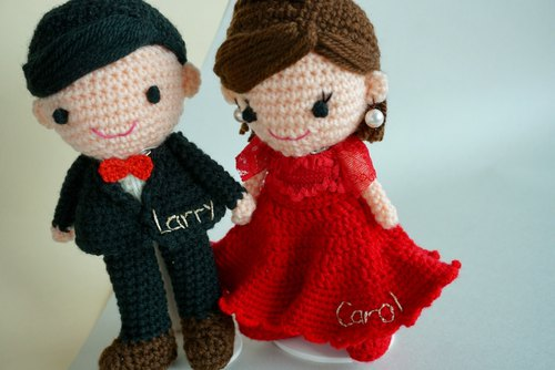[Wedding Decoration] Wedding Doll Extra Accessories - Embroidered Name