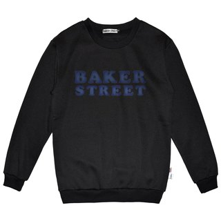 British Fashion Brand -Baker Street- Denim Letters Printed Sweater