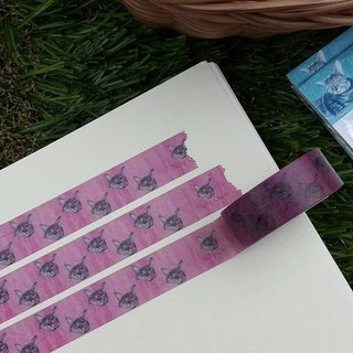 Little cat paper tape - pink