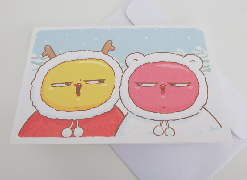 Warbie X'Mas & New year Card : Happiness winter