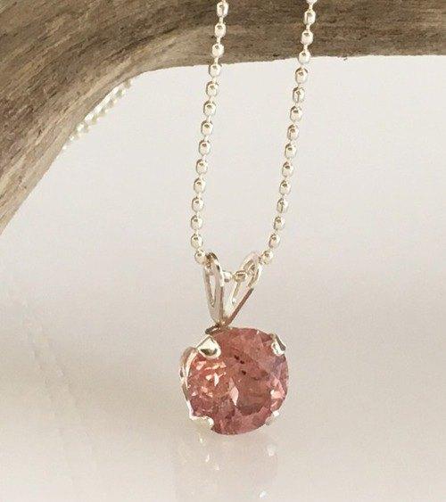 天然尖晶石淺粉紅色SV SV吊墜