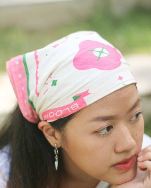Cotton fabric headband, 2 different illustration wearable.
