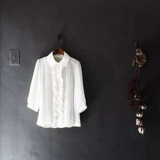 Wakayama Pure White Rolls Rolling Love Handmade Antique Silk Satin Shirt Shirt Shirt