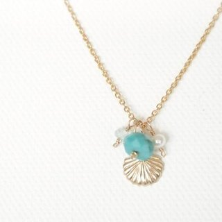 14KGF Mermaid Necklace