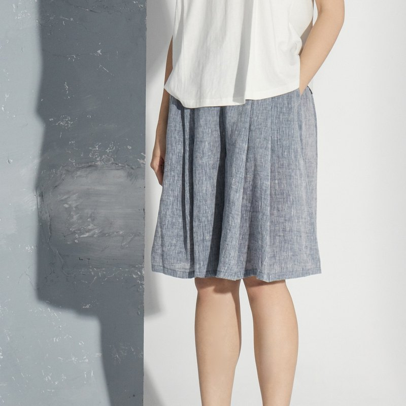 【Custom】Linen skirt pants