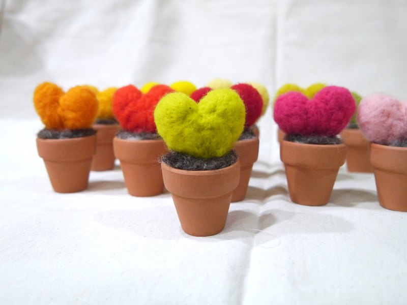| Wool felt | wool love potted plants (small) _ Potted color ~