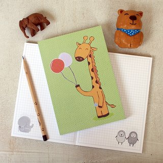 Naked mounted box notebook | giraffe