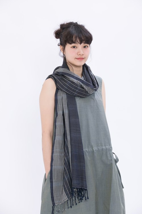 Fog line wool scarf _ moonlight _ fair trade