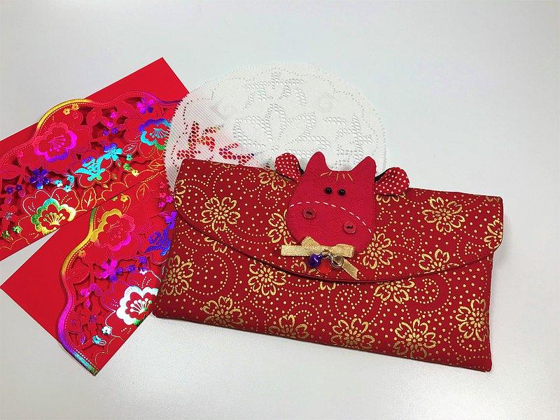 Fantasy【燙金棉布】牛轉乾坤紅包袋/存摺袋