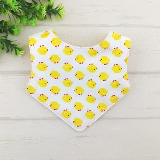 Baby chicken -2 color optional. Newborn double bibs / bibs (double cotton + quadruple yarn) (can increase 40 embroidered name) (chicken baby)