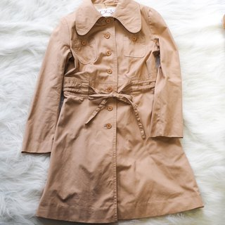 Aichi powder skin buckle tie rope love girl antique thin material windbreaker jacket trenchcoat dustcoat