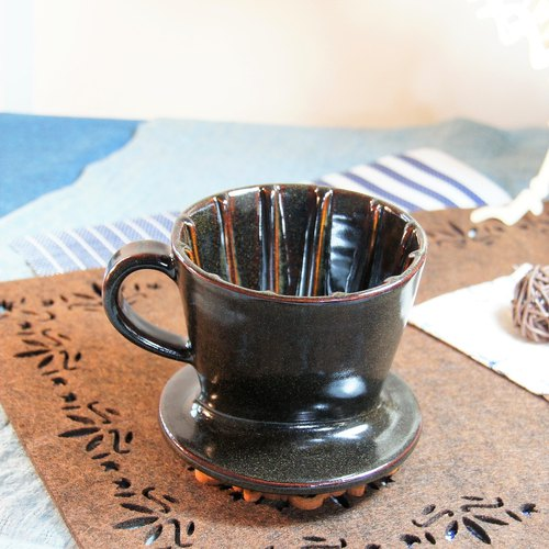 Trapezoid three-hole coffee filter cup