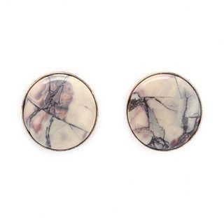 Artist Collection - S925 Sterling Silver With Porcelain Earrings 02