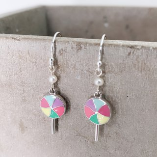 Lollipop Silver 925 & Fresh Water Pearl Earrings