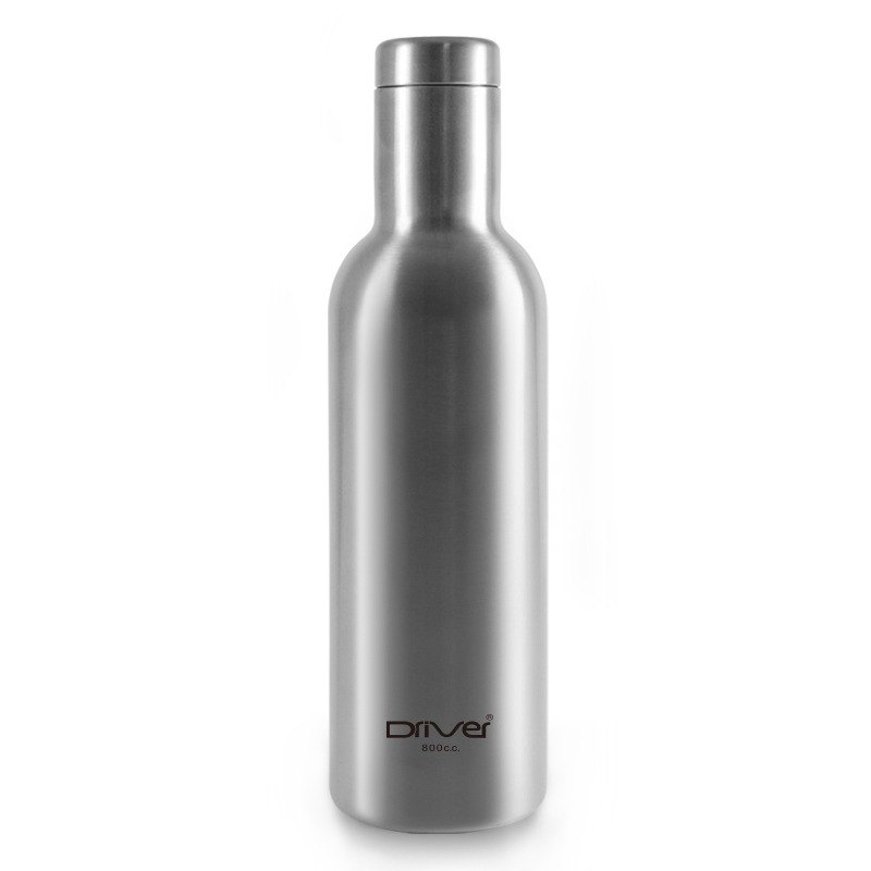 Driver fashion hot and cold thermos bottle 800ml- stainless steel color (with kuso stickers choose one)