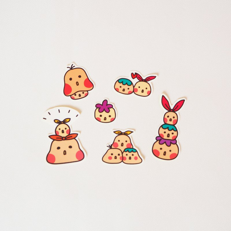 Sticky little dots sticker