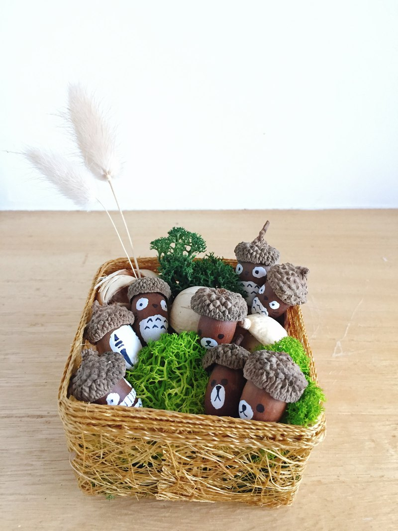 Pure natural forest elves Acorn animal potted plants gifts
